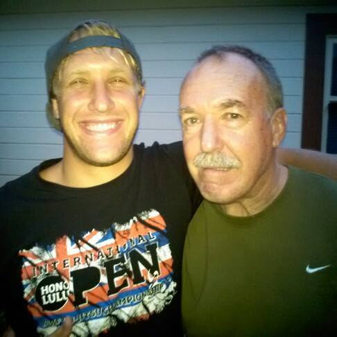 Nathan and his biggest fan, father Rod Mendelsohn--photo courtesy of Nathan Mendelsohn