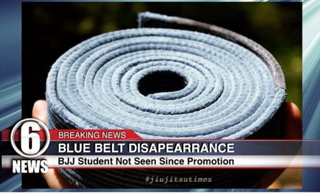 Do not be one of those clichéd blue belts who stops training once reaching the milestone.--photo courtesy of Jiu Jitsu Times/Todd Shaffer