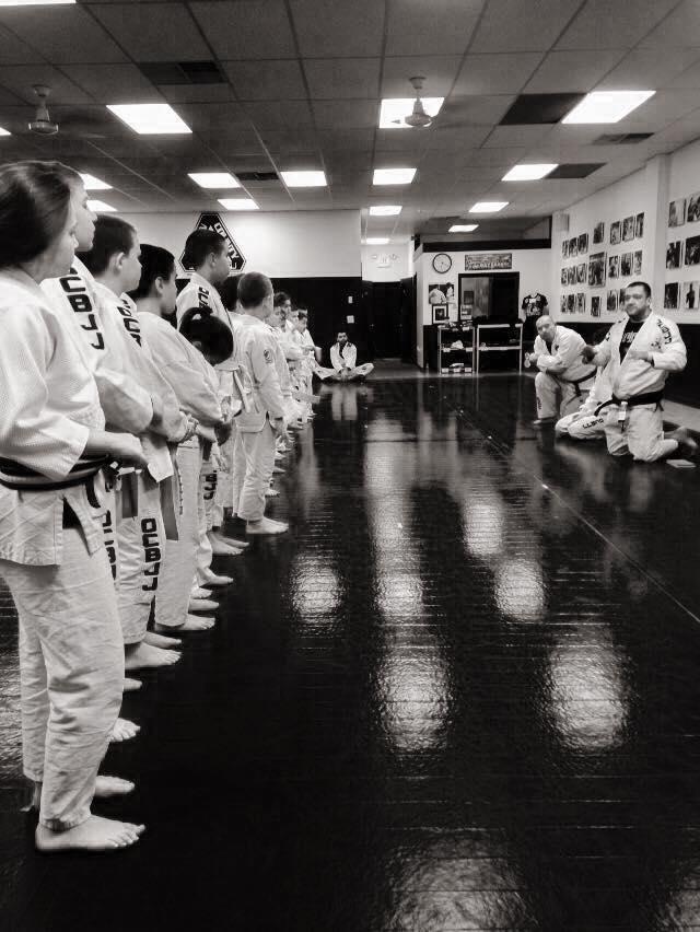 Professor DeBlass instructing students at his academy Orange County BJJ--photo courtesy of Tom DeBlass