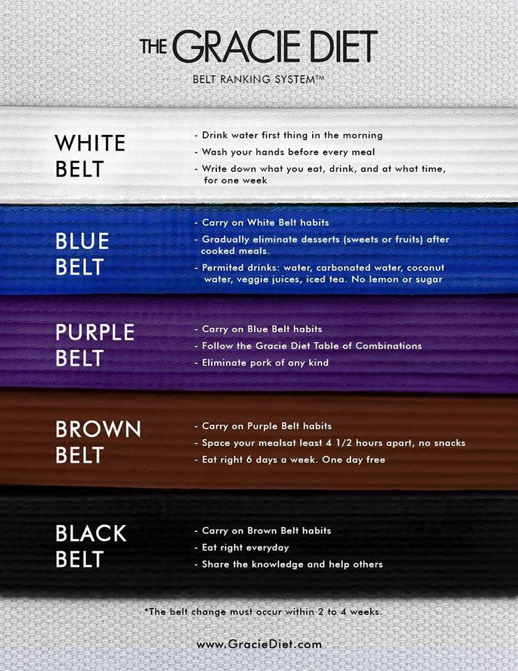 The New Gracie Diet Belt Rank System
