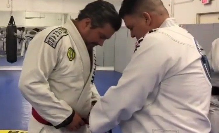 John D  Machado Promoted To Red-And-Black Coral Belt